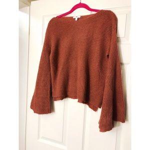 🆕 BP Cropped Bell Sleeve Orange Sweater XXS